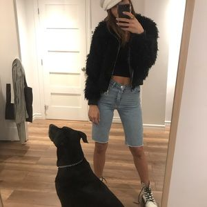 Zara black Furry jacket
